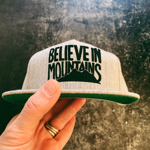 Tweed Believe in Mountains 3.0 Structured Hat in Classic Grey a8aede9fe6d5