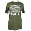 VOTE Unisex Triblend Tee in Olive Green