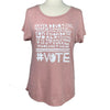VOTE Women's Tri-Blend Tee in Pink (Relaxed Fit)