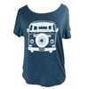 Van Love Women's Tri-Blend Tee in Indigo (Relaxed Fit)
