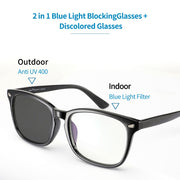 Photochromic (Transition) Blue Light Blocking Glasses - Eye Wear Blue