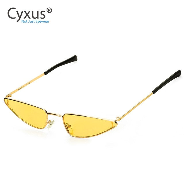 Vintage Narrow Cat Eye Sunglasses for Women - Eye Wear Blue