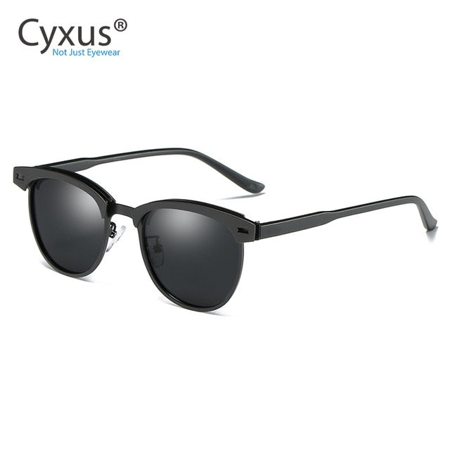 Half-Rim Polarized Sunglasses For Men - Eye Wear Blue