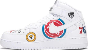 Nike Air Force 1 Mid Supreme NBA 6 White AQ8017 100 Low OG Black Off Travis Lab - Haim Place