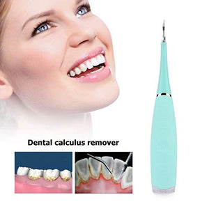 Electric Sonic Dental Calculus Plaque Remover Tool Kit - Tooth Scraper Tartar Removal Cleaner - Haim Place