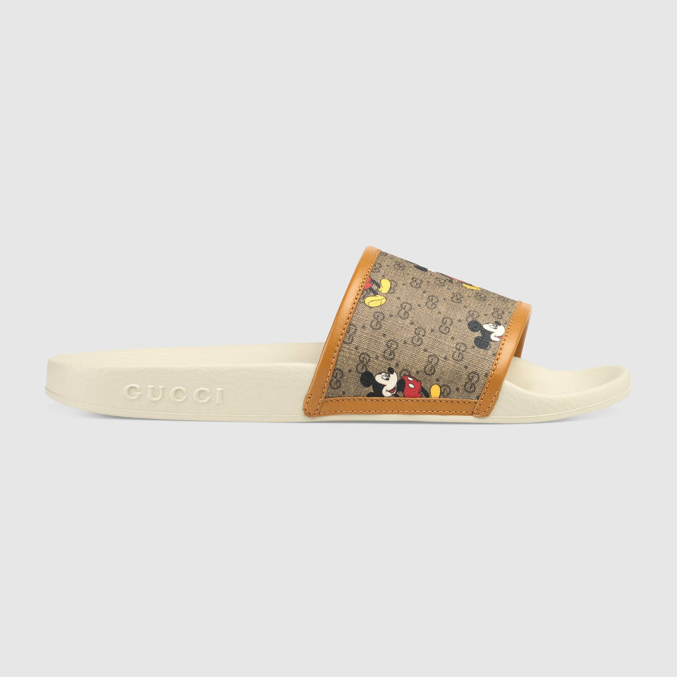 Gucci GG x Disney Mickey Mouse-print slides - Haim Place