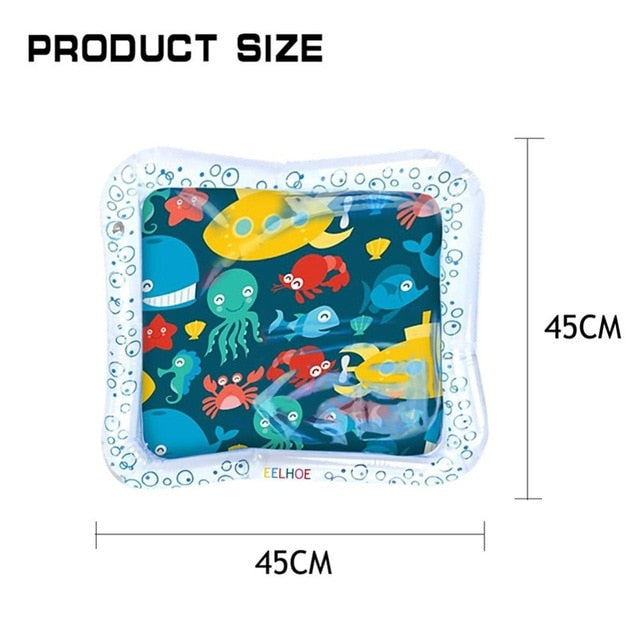 Inflatable Infants Tummy Time Activity Mat Baby Play Water Mat Toys for Kids Mat Summer Swimming Beach Pool Game Baby Gyms Mat - Haim Place