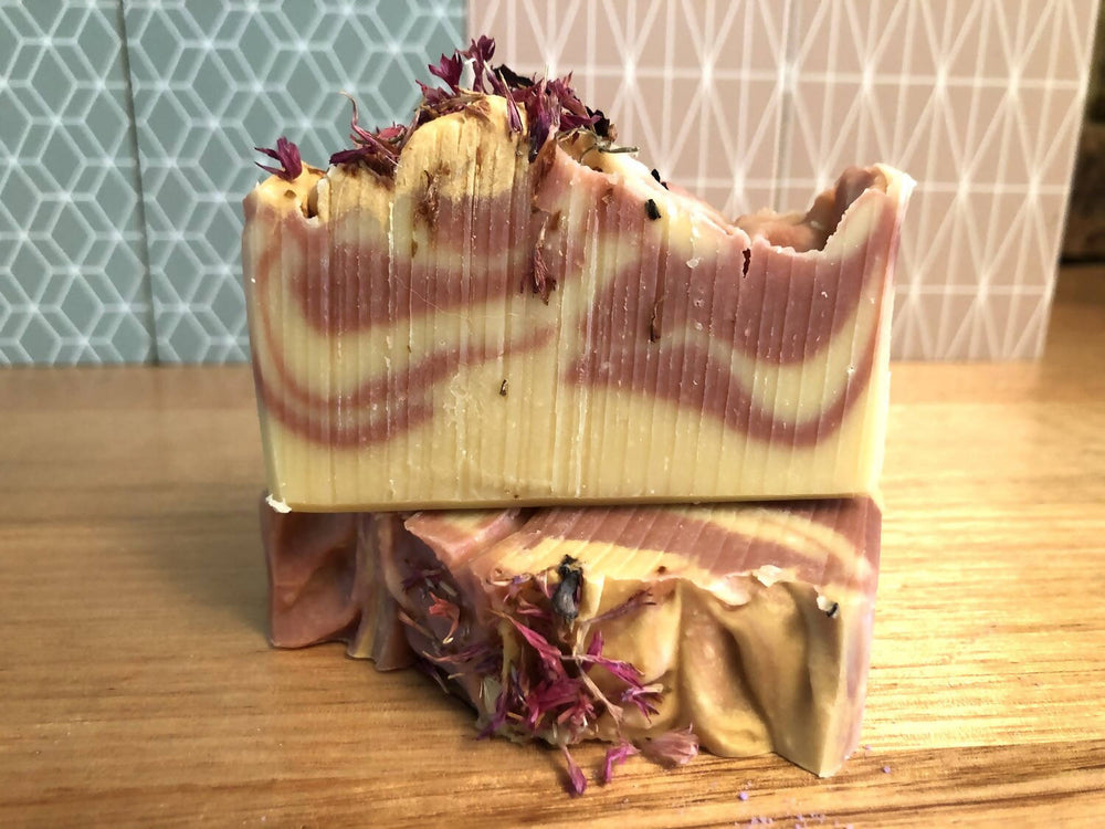 Load image into Gallery viewer, Handmade Black Raspberry & Vanilla Goat Milk Soap
