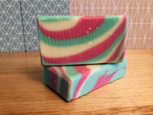 Load image into Gallery viewer, Handmade Grapefruit & Lime Goat Milk Soap