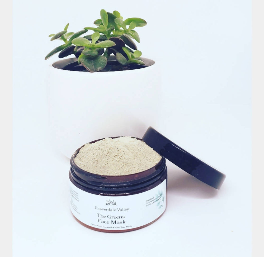 The Greens: Green Clay, Seaweed & Aloe Vera Face Mask