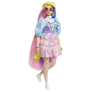 Barbie Extra Doll in Shimmery Look with Pet Puppy Toy