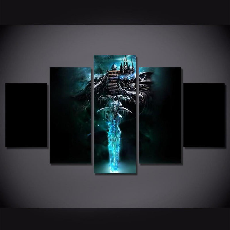 5Piece Game Poster World Of Warcraft Canvas Art Prints Painting Wall Pictures