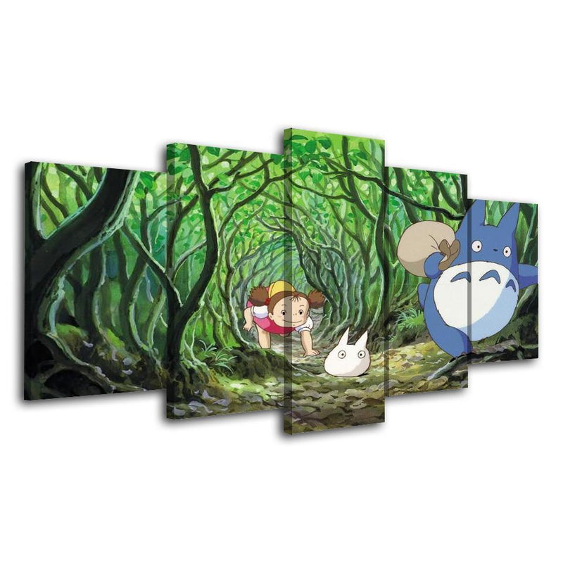 5 Piece Anime Painting Wall Poster Canvas Prints Totoro Picture
