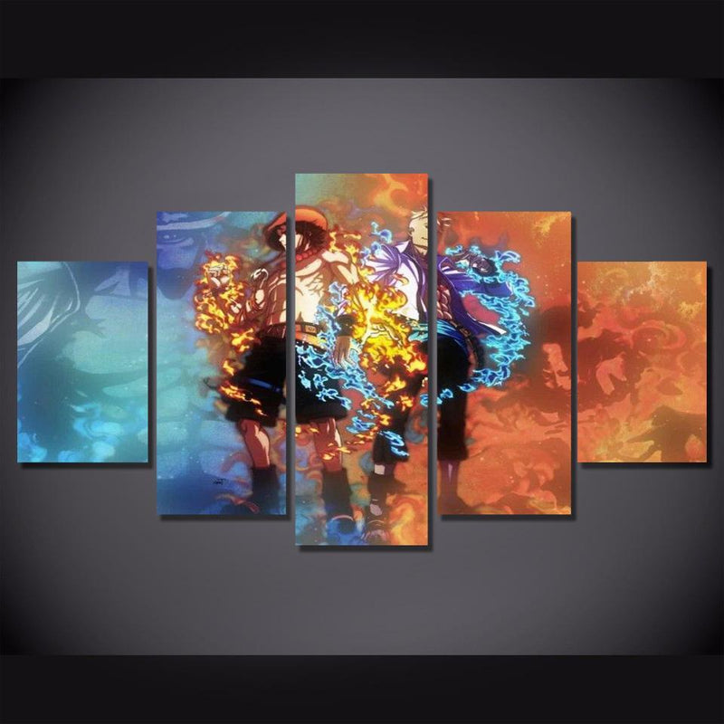 5 Piece Canvas Art Anime Poster Prints One Piece Wall Painting Artwork