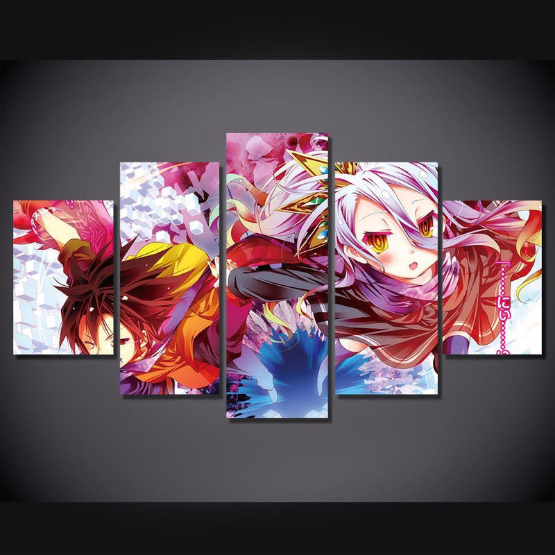 5 Piece Cartoon Wall Art Anime Canvas Prints Painting Wall Pictures