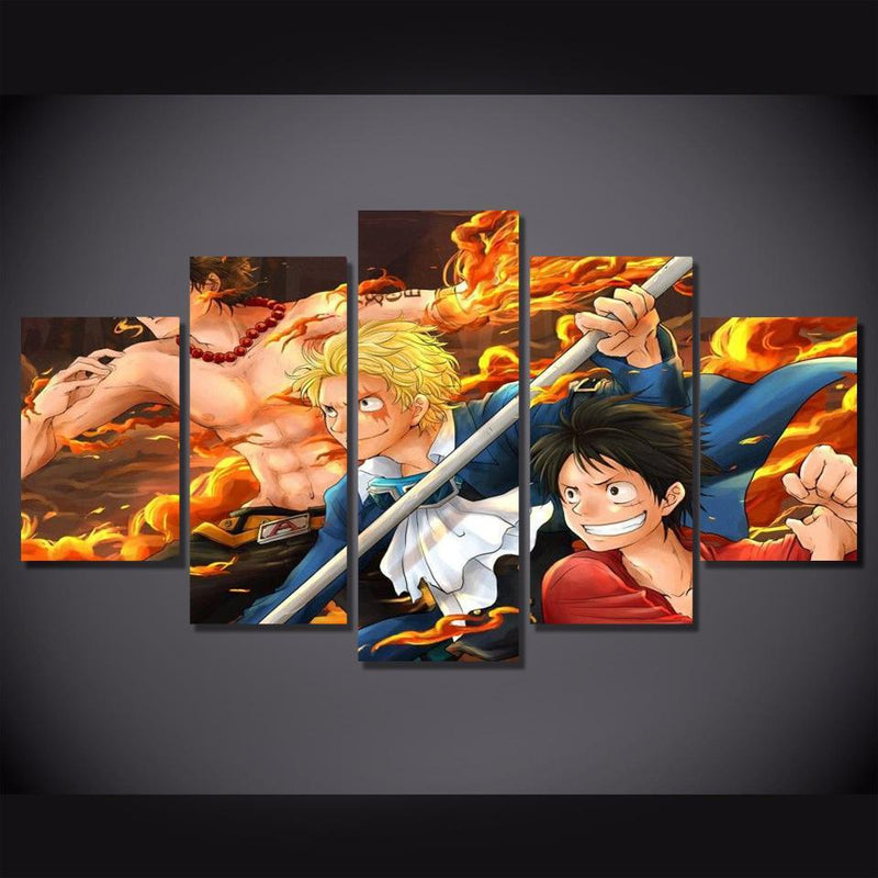 5 Piece Canvas Art One Piece Wall Painting Anime Poster Prints