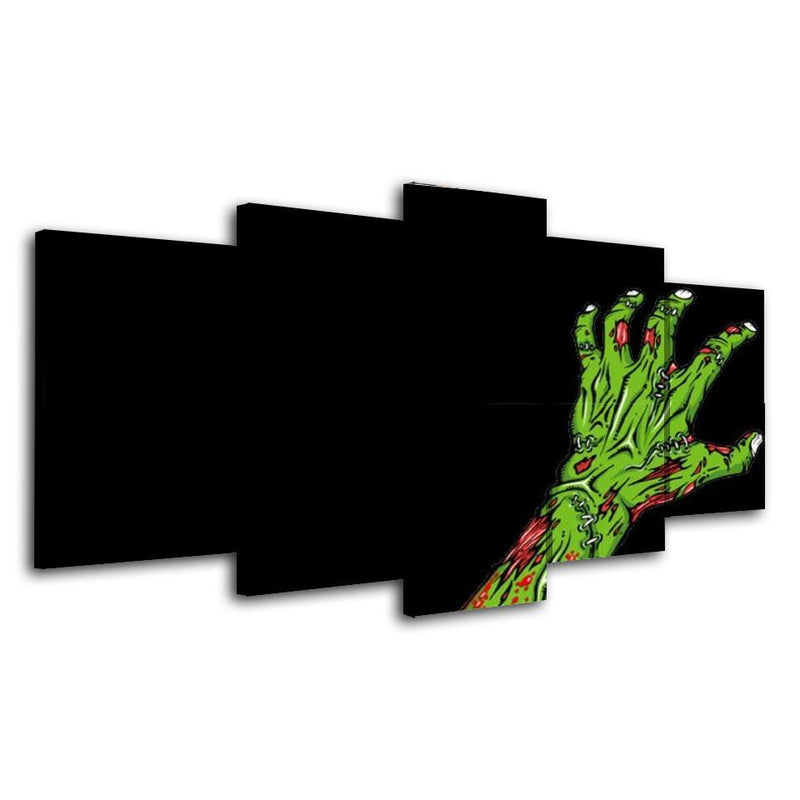 5Piece Zombie Painting Wall Art Game Poster Prints Green Hand Pictures
