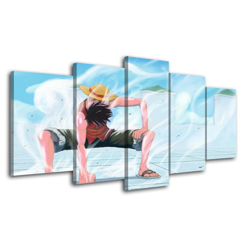 5 Piece One Piece Wall Art Painting Anime Canvas Poster Prints Home Decor