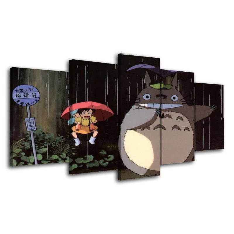 5 Piece Japanese Anime Wall Art Canvas Picture Totoro Poster Prints Cartoon Painting