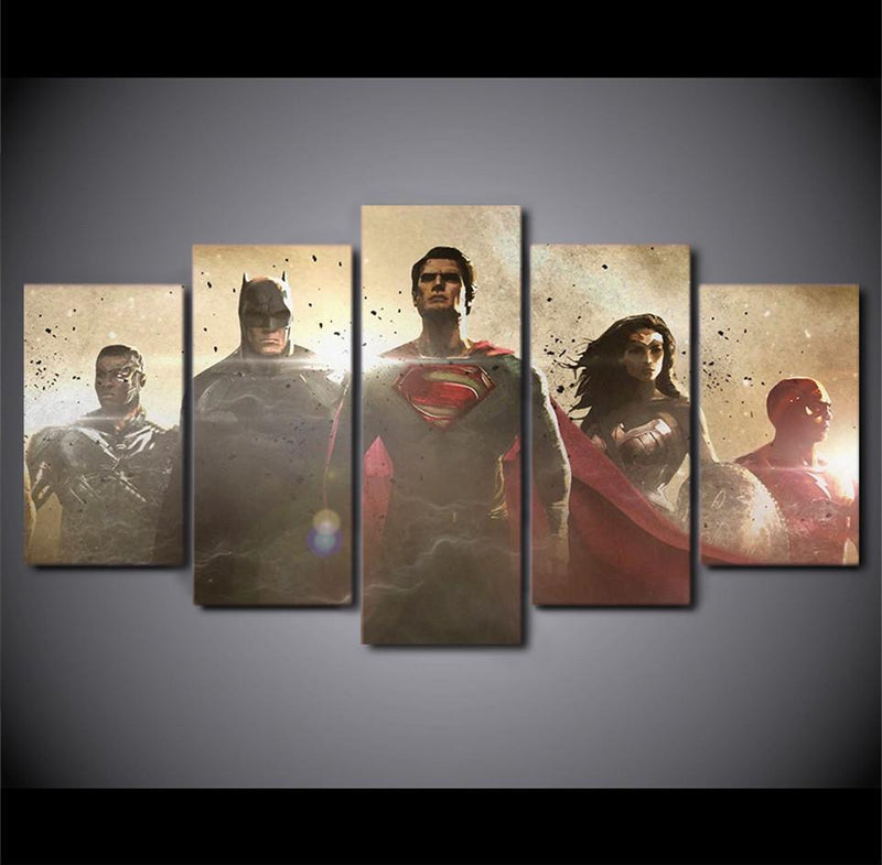 5Piece Movie Poster Canvas Art Prints Painting Wall Pictures
