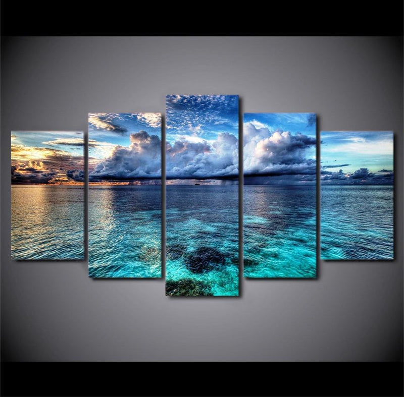 HD Printed 5Piece Home Decor Canvas Art Panels Christian Jesus Picture Print And Poster