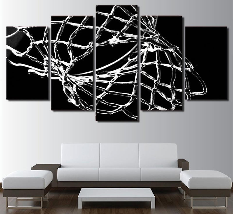 5 piece HD Print Black And White Abstract Painting On Canvas Art Home Decor Wall Art Picture