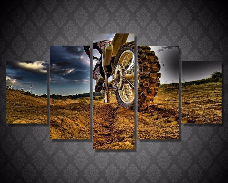 Wall Pictures Motocross Car Posters Prints Canvas Art Painting
