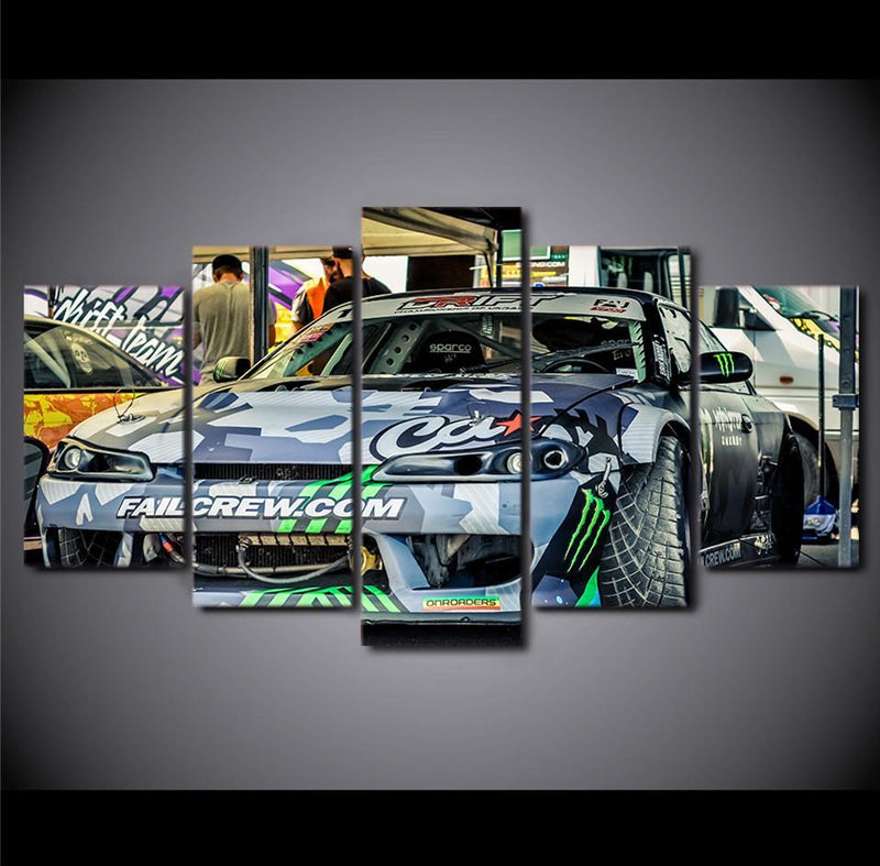 5Planes Canvas Art Picture Sports Car Graffiti Canvas Painting Pictures