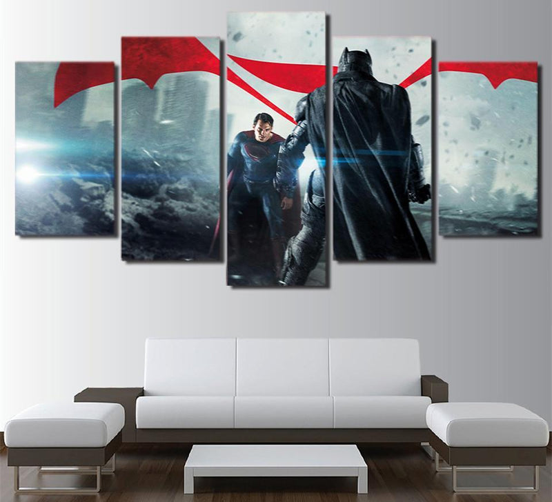 5Piece Canvas Wall Art Justice League Painting Movie Poster Wall Pictures