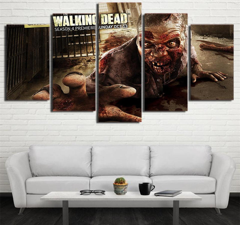 HD Printed 5PieceCanvas Wall Art Painting Calligraphy The Walking Dead Seasonr Living Room Painting