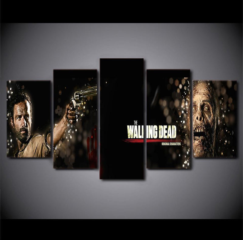 HD Printed 5Piece Home Printed The Walking Dead Movie Painting On Canvas Room Decoration