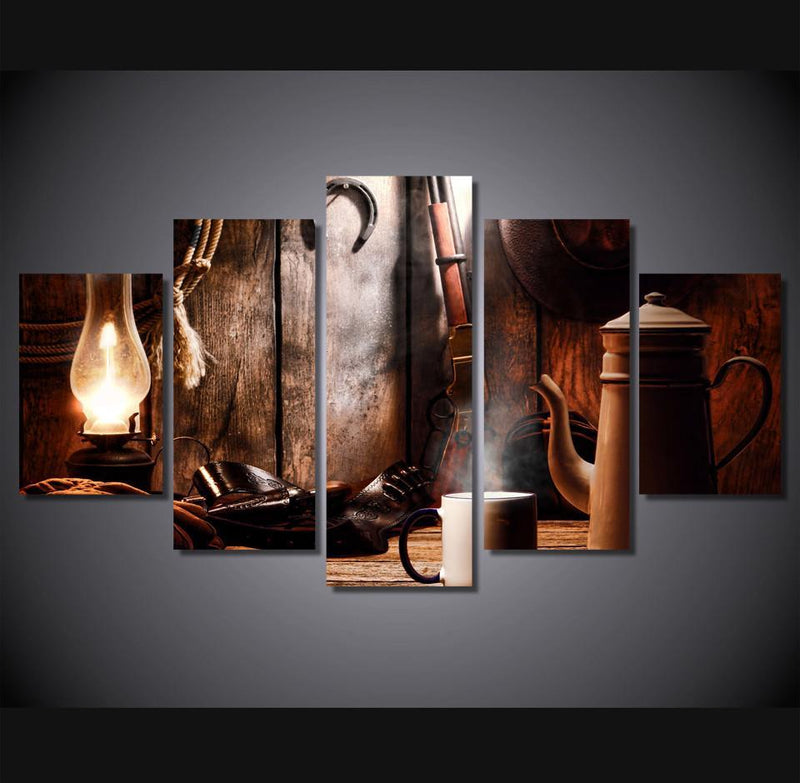 5Piece Canvas Art Painting Coffee Tea Group Painting