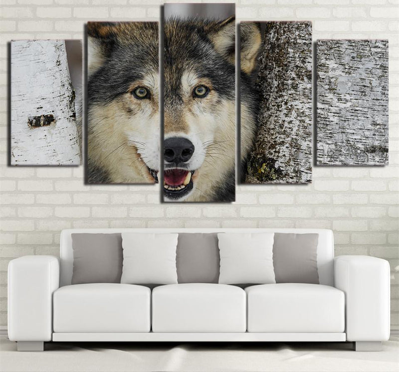 5 Piece Canvas Art Wolf Animal Painting Picture Poster Prints