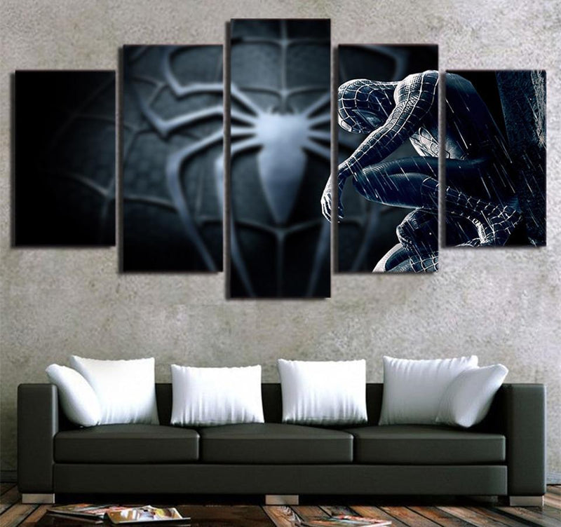 5Piece Canvas Art Framed Printed Movie Picture Spider Man Painting