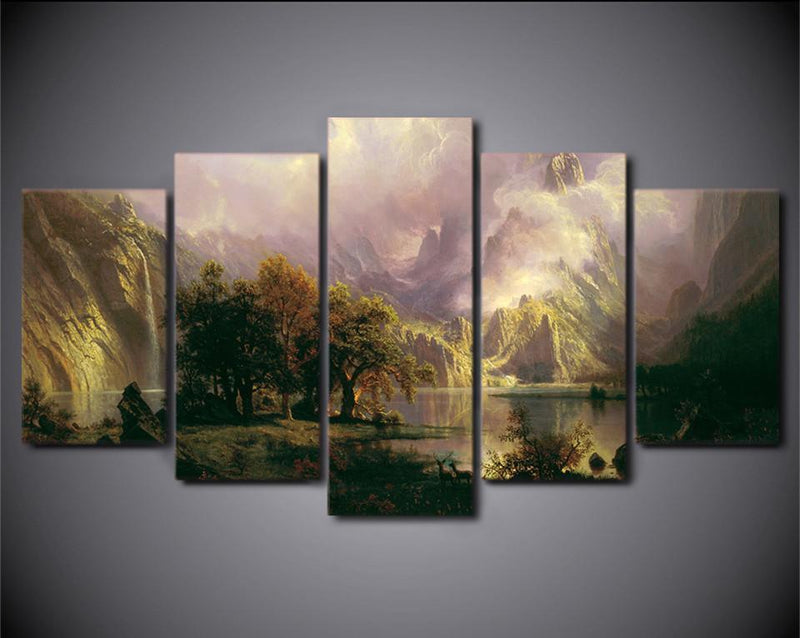 5 Piece Canvas Art Painting Landscape Sight HD Printed Wall Art Prints Poster Decor Picture