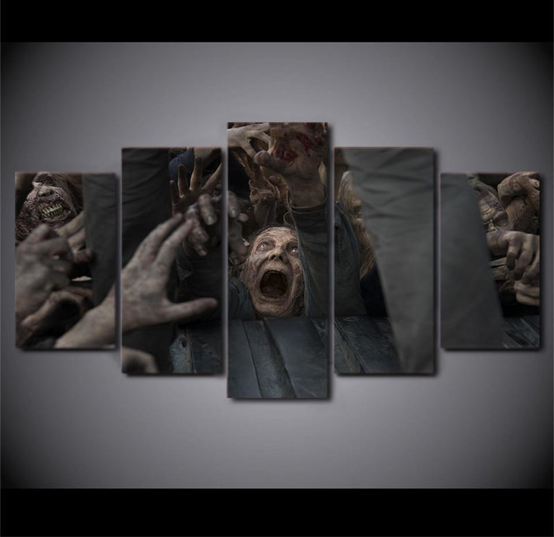 HD Printed 5Piece Home Printed The Walking Dead Movie Painting On Canvas Room Decoratio
