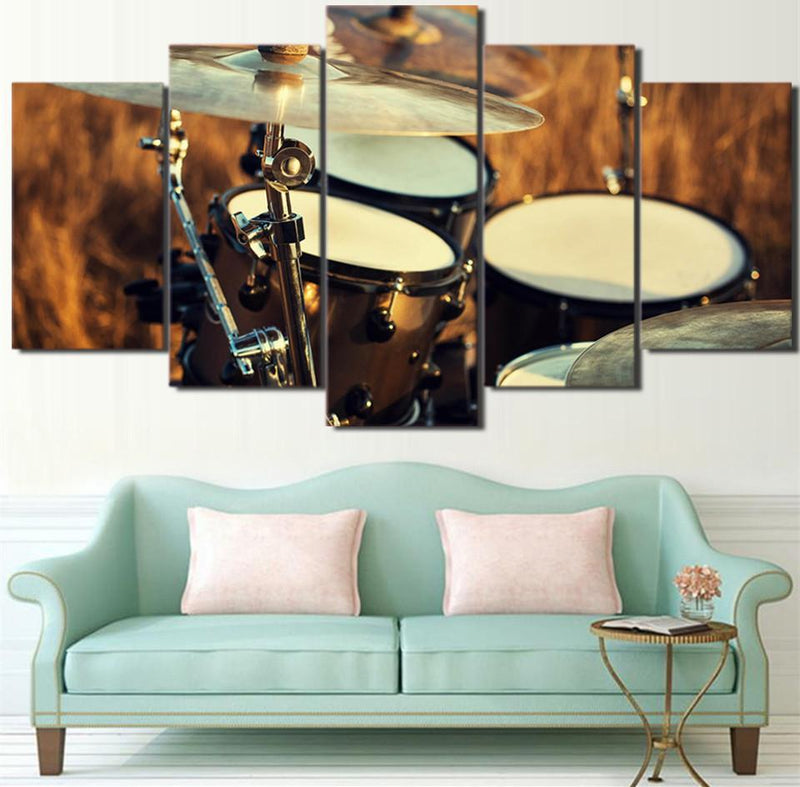 5Piece Canvas Painting Music Painting Drum Pictures