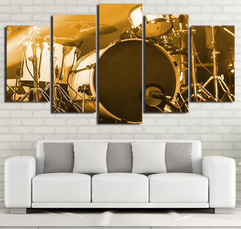 5 Piece Wall Art Guitar Painting Music Wall Pictures