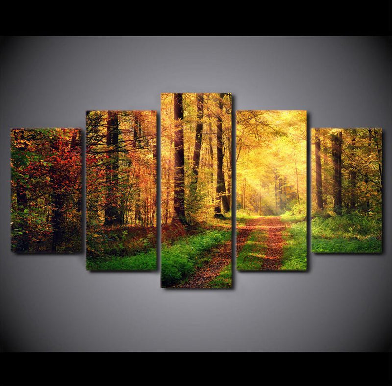 5Piece Wall Canvas Art Pictures Home Sunsets Great Clouds Canvas Painting