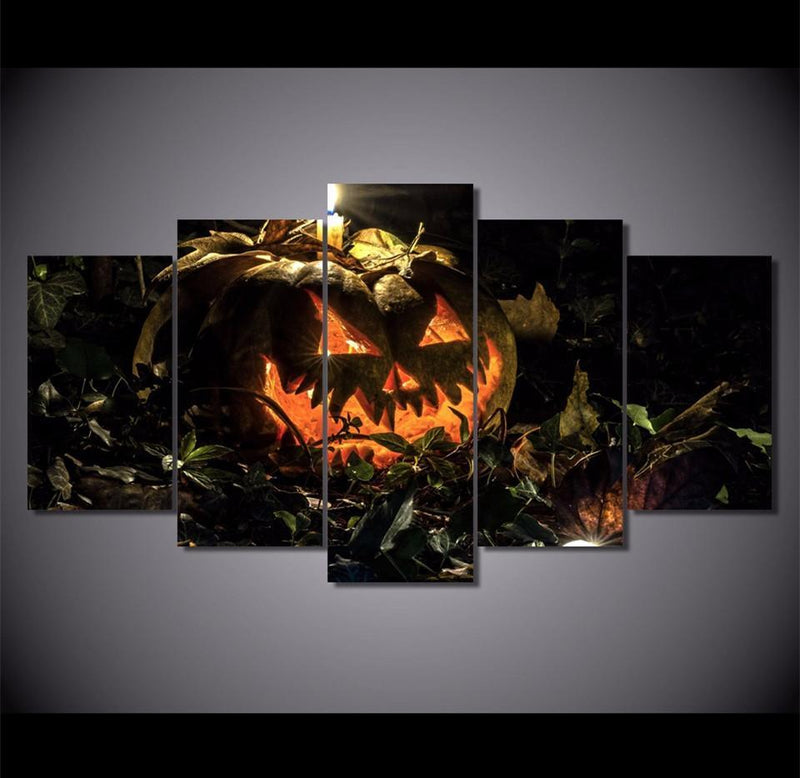5Piece Canvas Art Pictures HD Print Halloween pumpkin Abstract Painting