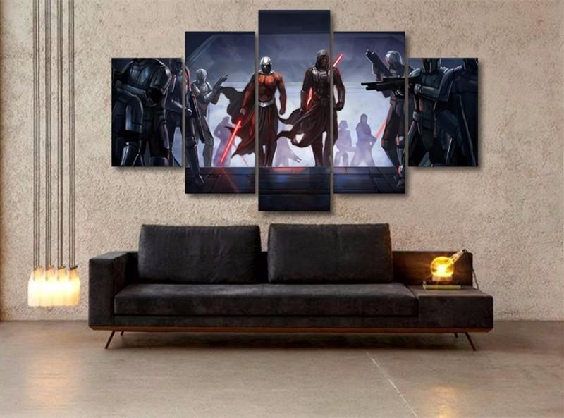 5pcs Star Wars Art Comic Movie Poster Home Wall Decor Canvas Picture