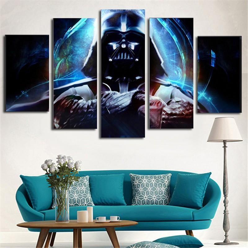 HD Printed Star Wars 5 Piece Picture Painting Wall Art Canvas