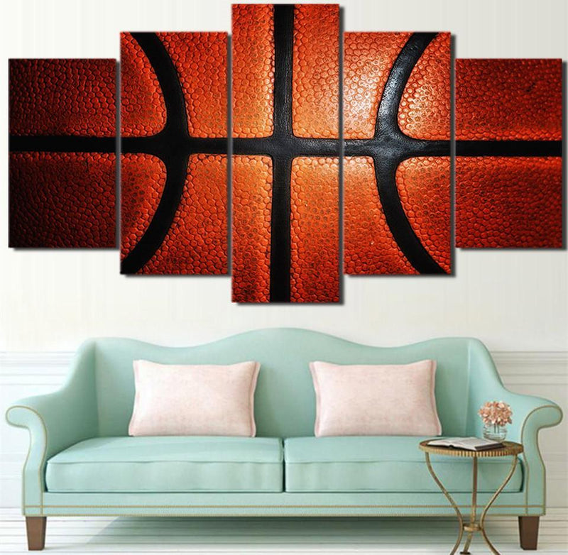 HD Printed 5 PieceCanvas Art Basketball Painting