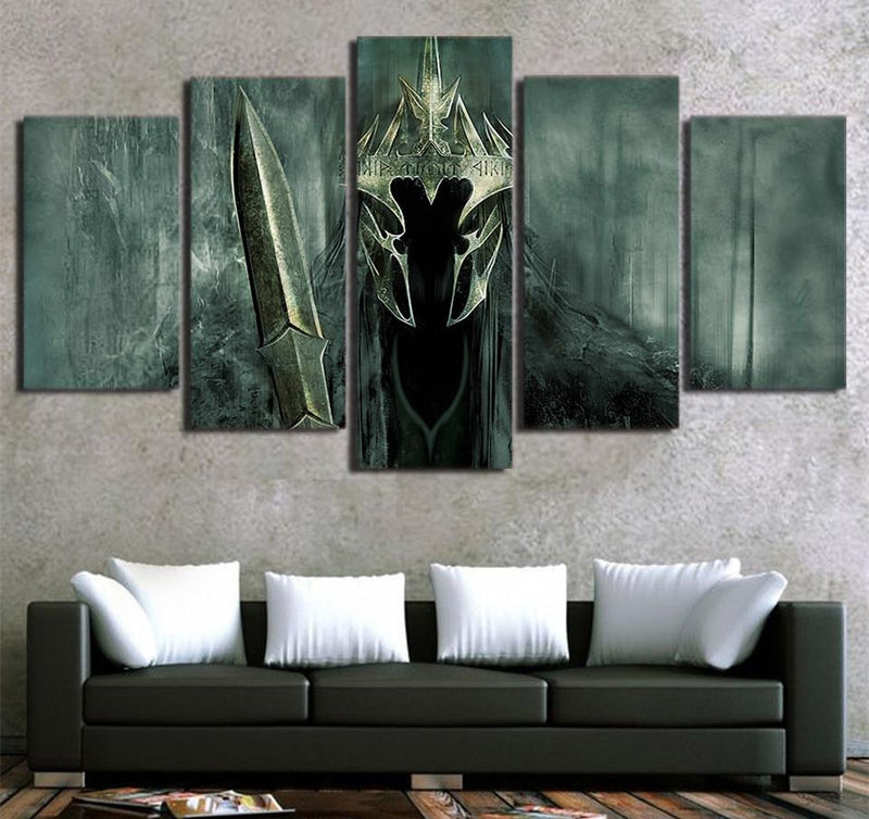 5Planes Canvas Art Print Painting Canvas Art Lord of the Rings Movie Poster