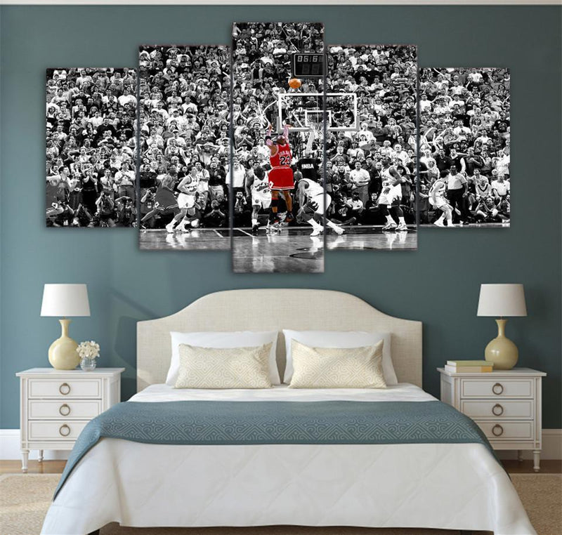 5Piece Wall Picture Sport Canvas Painting Basketball Poster Prints
