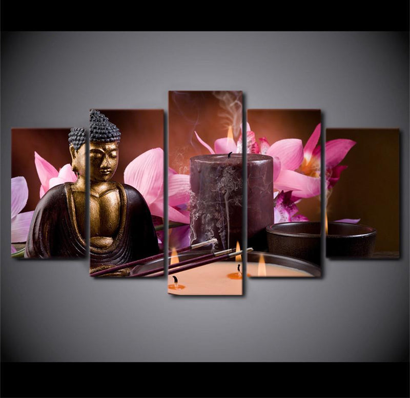 5Planes Canvas ArtHome Decor Modern Buddha Painting Abstract Canvas