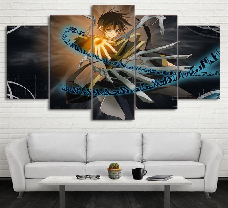 5 Piece Canvas Wall Art Printed Anime Poster Canvas Paintings Home Decor