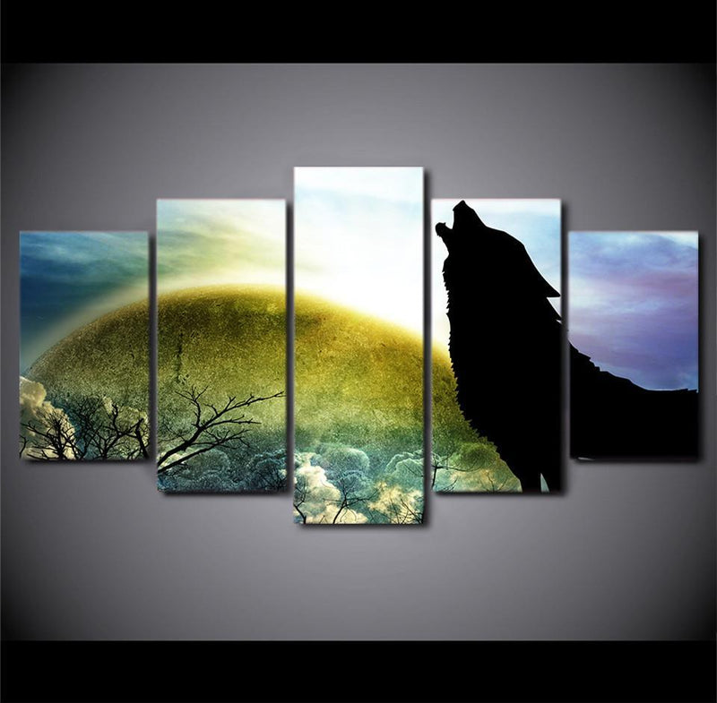5Planes Canvas Art Home Decor Hd Printed Cartoon Anime Dragon Canvas Prints