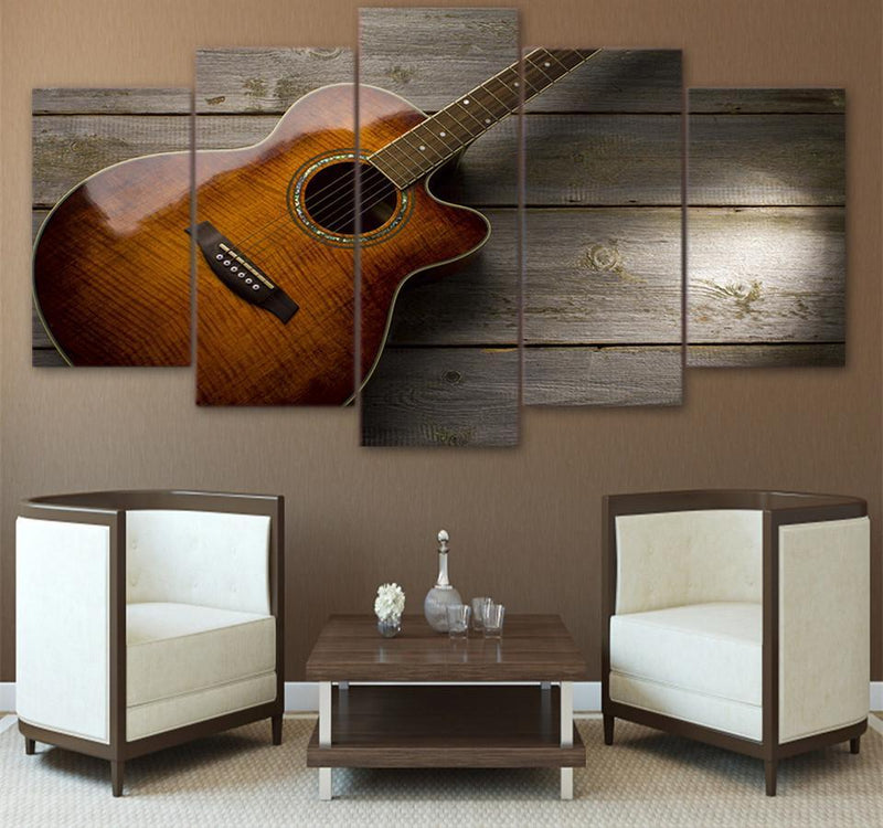 5Planes Canvas Art Home Decor Hd Printed Music Canvas Prints Guitar Picture