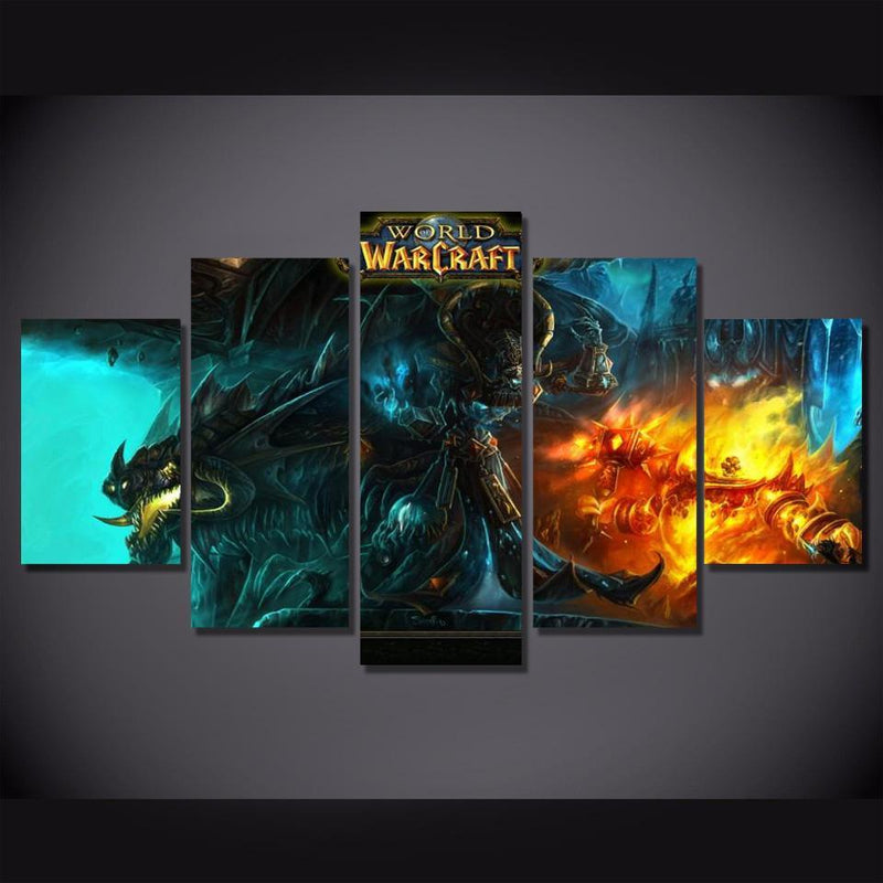 5Piece World Of Warcraft Game Pictures Canvas Painting Wall Art Prints